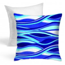 Abstract Waves Throw Pillow Covers for Sofa Bedroom , Can be used in holiday house. 45cm x 45cm