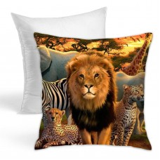 Afriaca Animals Throw Pillow Covers for Sofa Bedroom , Can be used in guest room 45cm x 45cm