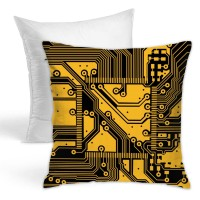 Circuit Board Line Throw Pillow Covers for Sofa Bedroom , Can be used in holiday house. 45cm x 45cm
