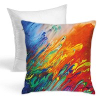 Color Art Throw Pillow Covers for Sofa Bedroom , Can be used in holiday house. 45cm x 45cm