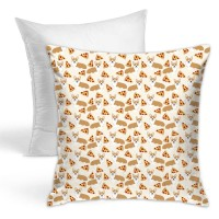 Corgi Pizza Cream Cute Funny Novelty Pet Corgi Throw Pillow Covers for Sofa Bedroom , Can be used in any room-bedroom 45cm x 45cm