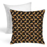 Corgis! (Black) Throw Pillow Covers for Sofa Bedroom , Can be used in guest room 45cm x 45cm