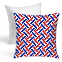Croatia Flag Weave Throw Pillow Covers for Sofa Bedroom , Can be used in any room-bedroom 45cm x 45cm