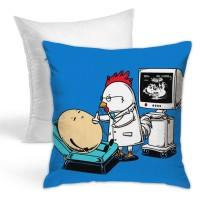 Funny Chicken Eggs Throw Pillow Covers for Sofa Bedroom , Can be used in guest room 45cm x 45cm
