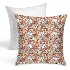 Puppies Browns And Green Throw Pillow Covers for Sofa Bedroom , Can be used in children's room 45cm x 45cm