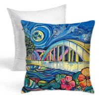 Rainbow Bridge Throw Pillow Covers for Sofa Bedroom , Can be used in children's room 45cm x 45cm