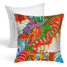 Red Chinese Dragon Throw Pillow Covers for Sofa Bedroom , Can be used in any room-bedroom 45cm x 45cm