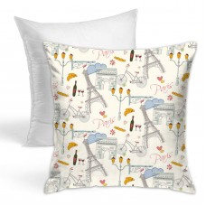 Romantic Paris Throw Pillow Covers for Sofa Bedroom , Can be used in guest room 45cm x 45cm